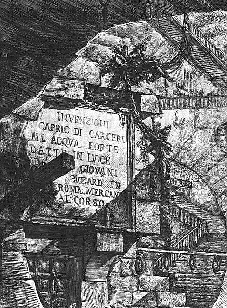 Carceri d'Invenzione 1749-50 by Giovanni Battista Piranesi - Reproduction Oil Painting