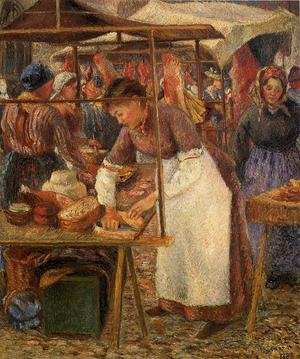 Famous paintings of Markets: The Pork Butcher  1883