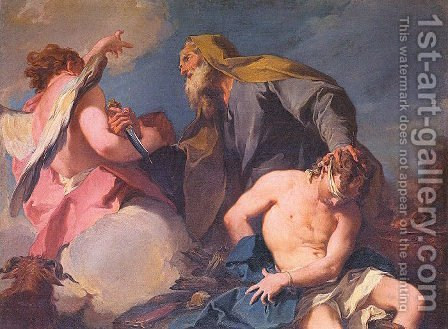 The Sacrifice of Isaac 1720 by Giovanni Battista Pittoni the younger - Reproduction Oil Painting