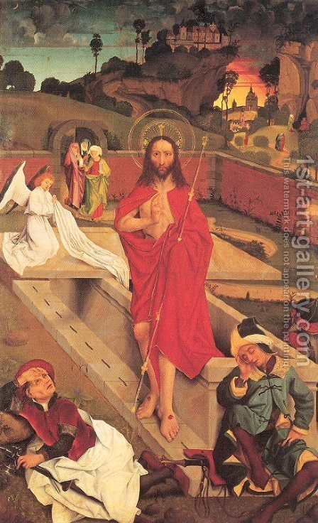 The Resurrection of Christ by Hans Pleydenwurff - Reproduction Oil Painting