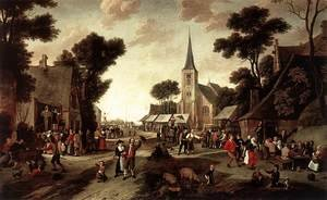 Famous paintings of Villages: The Fair 1661