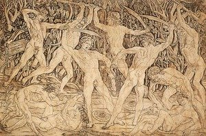 Antonio Pollaiolo reproductions - Battle of Ten Nudes 1470s