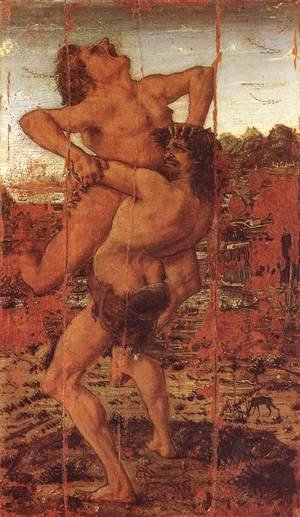 Reproduction oil paintings - Antonio Pollaiolo - Hercules and Antaeus c. 1478