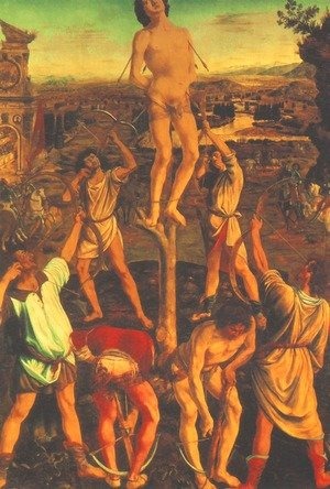 Reproduction oil paintings - Antonio Pollaiolo - Martyrdom of St Sebastian 1473-75