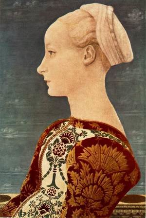 Reproduction oil paintings - Antonio Pollaiolo - Portrait of a Young Woman c. 1465