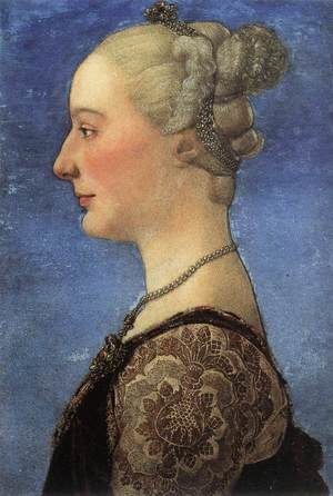 Reproduction oil paintings - Antonio Pollaiolo - Portrait of a Young Woman c. 1475