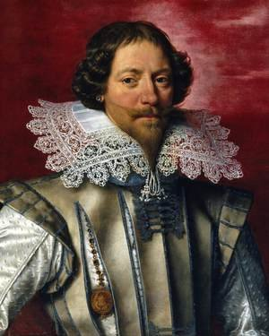 Famous paintings of Men: Portrait of a Frenchman 1610-22
