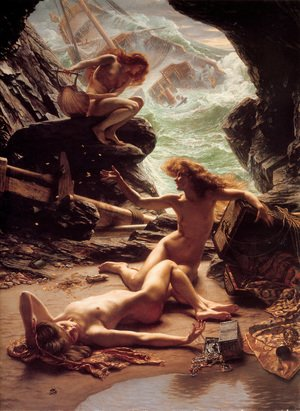 Famous paintings of Fantasy, Mythology, Sci-Fi: Cave of the Storm Nymphs 1903