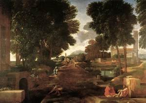 Nicolas Poussin reproductions - A Roman Road 1648