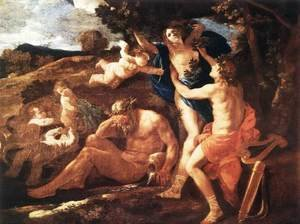 Reproduction oil paintings - Nicolas Poussin - Apollo and Daphne 1625