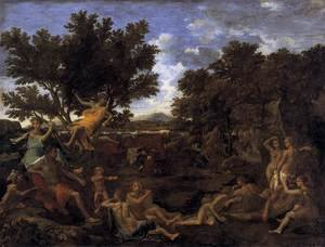 Reproduction oil paintings - Nicolas Poussin - Apollo and Daphne 1664