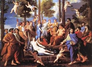Reproduction oil paintings - Nicolas Poussin - Apollo and the Muses (Parnassus) 1630s