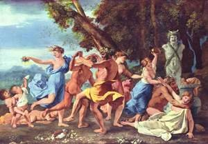 Reproduction oil paintings - Nicolas Poussin - Bacchanal before a Statue of Pan 1631-33