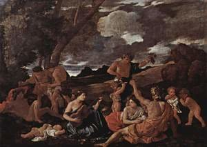 Reproduction oil paintings - Nicolas Poussin - Bacchanal- the Andrians 1628-30