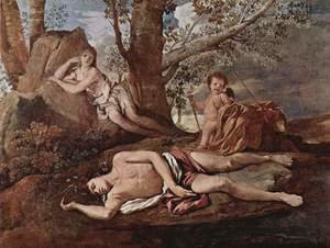 Reproduction oil paintings - Nicolas Poussin - Echo and Narcissus 1628-30