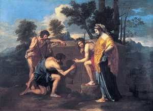 "Reproduction oil paintings - Nicolas Poussin - ""Et in Arcadia Ego"" 1637-39"