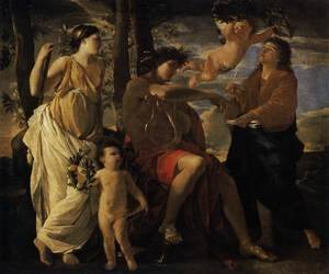 Reproduction oil paintings - Nicolas Poussin - The Inspiration of the Poet c. 1630