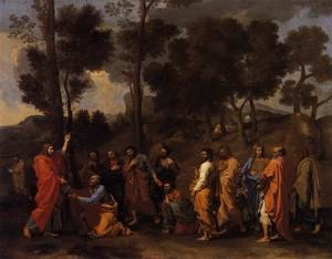 Famous paintings of Trees: The Sacrament of Ordination 1636-40
