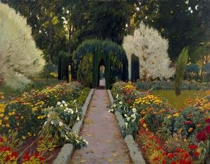 Reproduction oil paintings - Santiago Rusinol i Prats - Garden in Aranjuez 1908