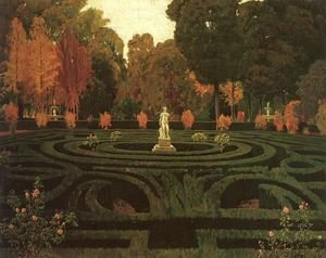 Reproduction oil paintings - Santiago Rusinol i Prats - The Old Faun 1912