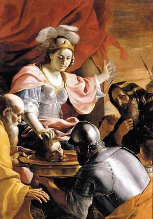 Reproduction oil paintings - Mattia Preti - Queen Tomyris Receiving the Head of Cyrus, King of Persia 1670-72