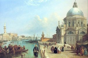 Famous paintings of Ships & Boats: The Salute, Venice