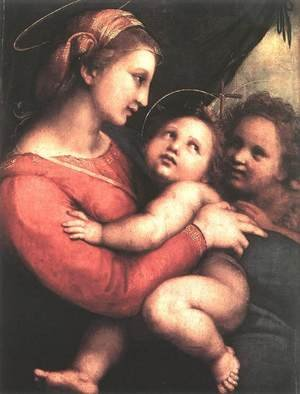 Reproduction oil paintings - Raphael - Madonna della Tenda 1514