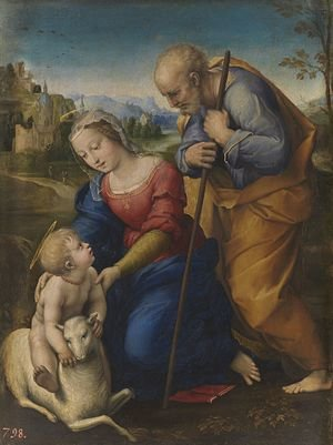 Reproduction oil paintings - Raphael - The Holy Family with a Lamb 1507