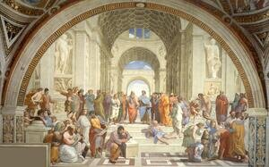 Renaissance - High painting reproductions: The School of Athens (from the Stanza della Segnatura) 1510-11