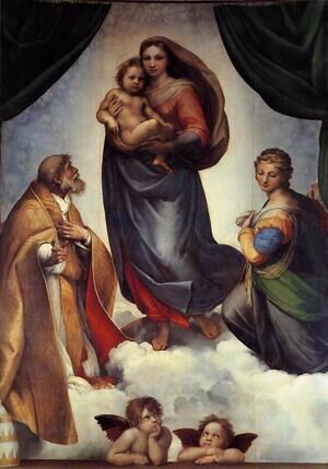 Reproduction oil paintings - Raphael - The Sistine Madonna 1513-14