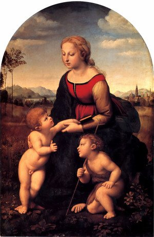 Reproduction oil paintings - Raphael - The Virgin and Child with Saint John the Baptist (La Belle Jardiniere) 1507