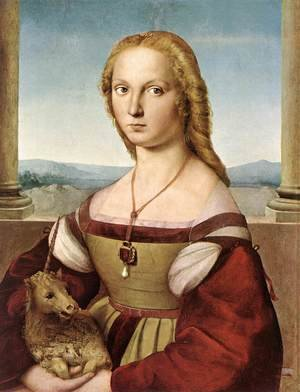 Reproduction oil paintings - Raphael - The Woman with the Unicorn 1505