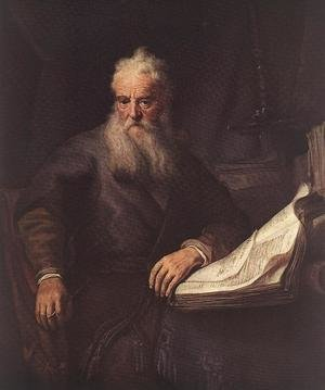 Famous paintings of Men: Apostle Paul 1635