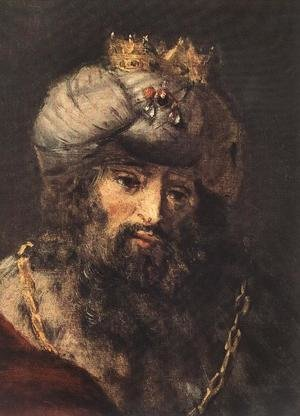 Reproduction oil paintings - Rembrandt - David and Uriah (detail -2) 1665