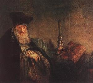 Reproduction oil paintings - Rembrandt - Old Rabbi (detail) 1642