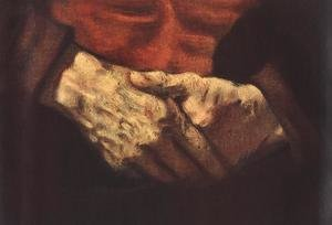 Reproduction oil paintings - Rembrandt - Portrait of an Old Man in Red (detail -2) 1652-54
