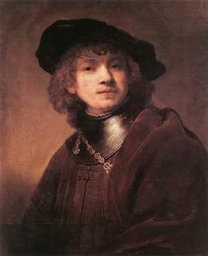 Famous paintings of Men: Self Portrait as a Young Man 1634