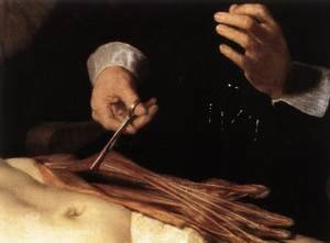 Reproduction oil paintings - Rembrandt - The Anatomy Lecture of Dr. Nicolaes Tulp (detail) 1632