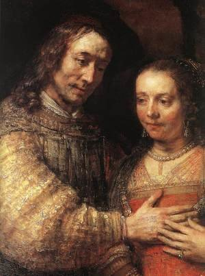Reproduction oil paintings - Rembrandt - The Jewish Bride (detail) c. 1665