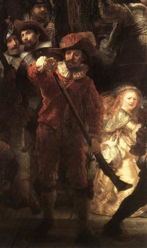 Reproduction oil paintings - Rembrandt - The Nightwatch (detail-2) 1642