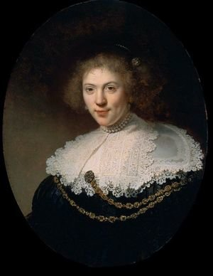 Reproduction oil paintings - Rembrandt - Woman Wearing a Gold Chain  1634