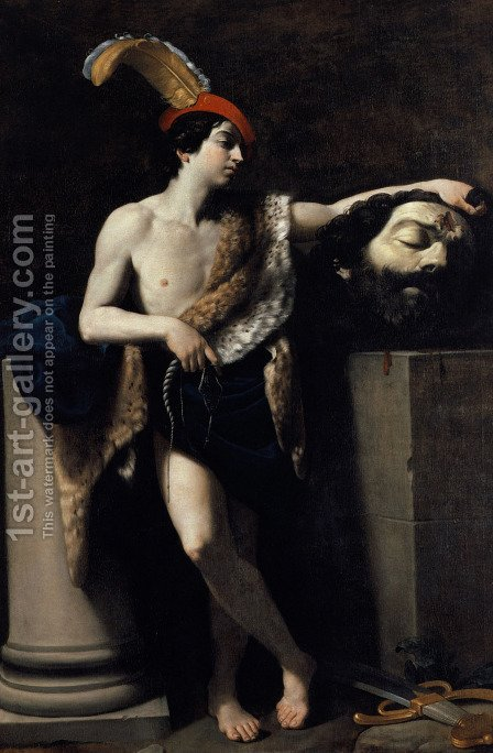David with the Head of Goliath 1605 by Guido Reni - Reproduction Oil Painting