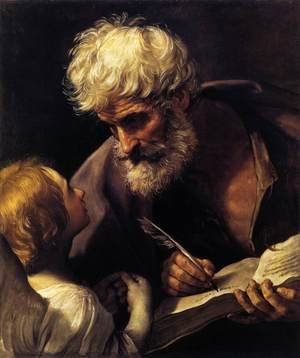 Famous paintings of Angels: St Matthew and the Angel 1635-40