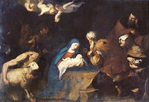 Reproduction oil paintings - Jusepe de Ribera - Adoration of the Shepherds 1640