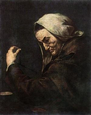 Reproduction oil paintings - Jusepe de Ribera - An Old Money-Lender 1638