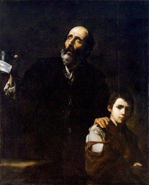 Reproduction oil paintings - Jusepe de Ribera - Blind Beggar and his Boy 1632