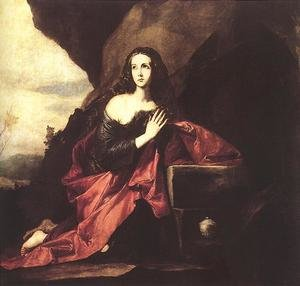Jusepe de Ribera reproductions - Mary Magdalene in the Desert 1640-41