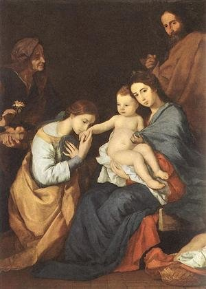 Reproduction oil paintings - Jusepe de Ribera - The Holy Family with St Catherine 1648
