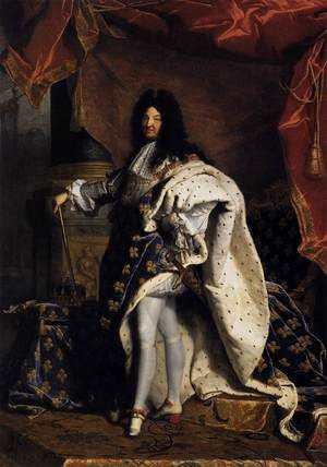 Famous paintings of Men: Portrait of Louis XIV 1701