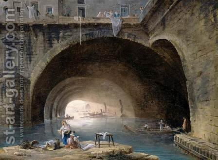 La Bievre 1768 by Hubert Robert - Reproduction Oil Painting